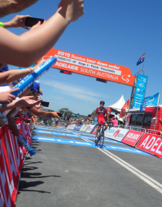 Rohan Dennis taking the win and the lead on Stage 3